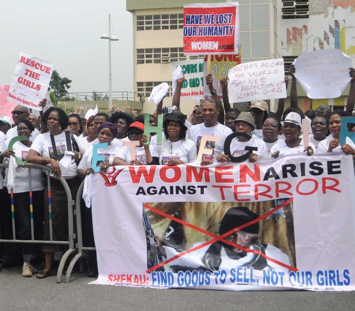 Bring Back our girls protest girls women lagos