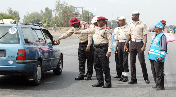 FRSC officials on duty used to illustrate the story.