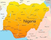 Map of Nigeria used to illustrate the story