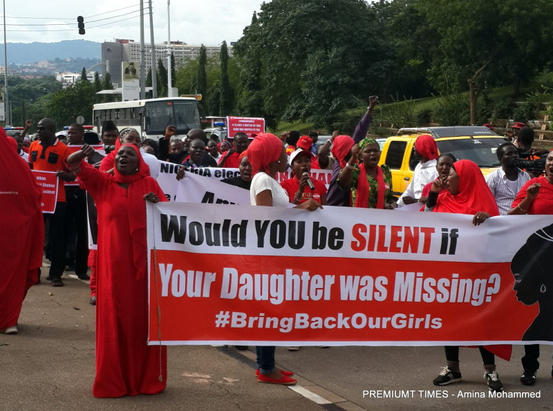 FILE PHOTO: #BringBackOurGirls protest in 2014 prior to the 2015 presidential election