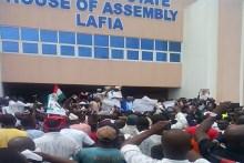 PDP supporters at Nasarawa Assembly, Lafia