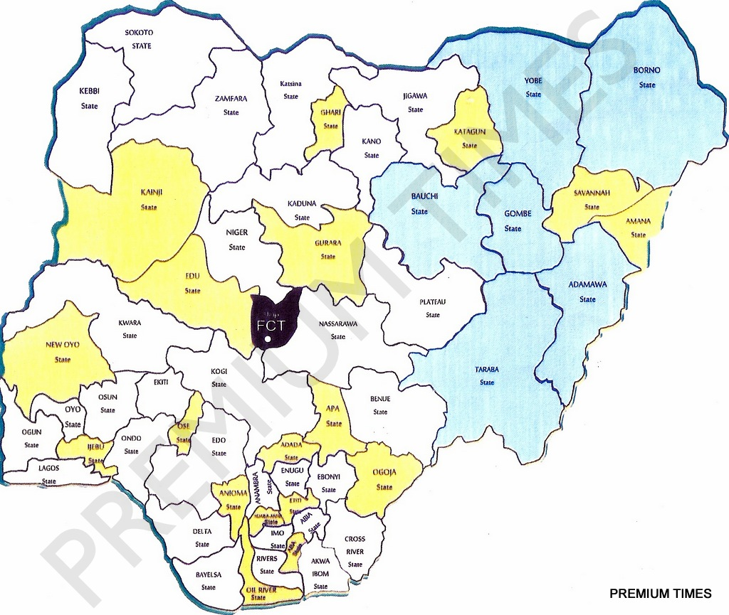 New Map of Nigeria as proposed by National Conference NGConfab