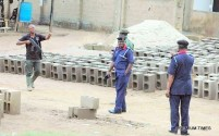 PICTURES FROM SCENE OF assassination attempt on the commandant general NSCDC6