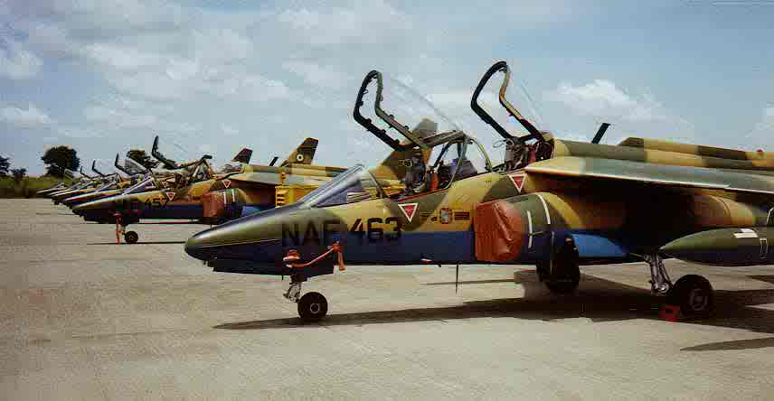 File Photo: Nigeria Air Force Alpha Jets.... One of them declared missing. Photo Credit: http://beegeagle.files.wordpress.com via google