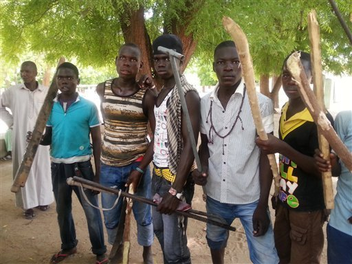 A cross section of Civilian JTF fighters in the North-East