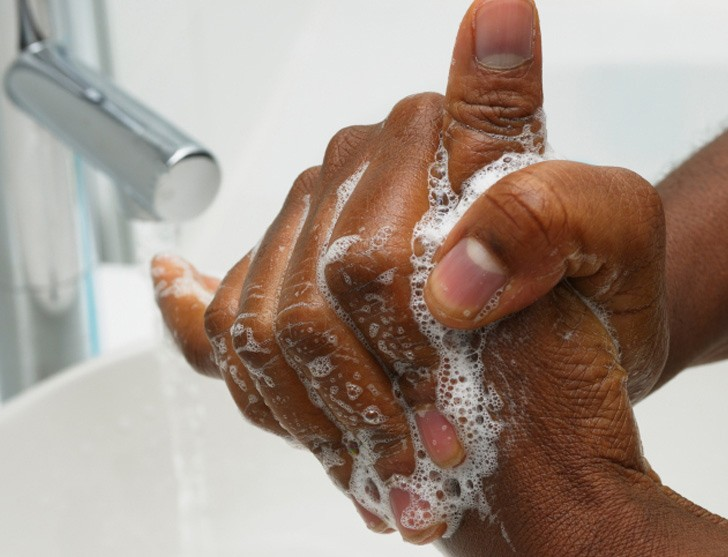 washing-hands used to illustrate the stroy.