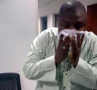 Effect of tear gas unrelenting. Am trying to wriggle myself of the pepper