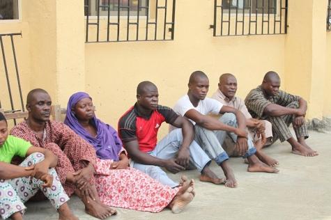Ejigbo market rape & sodomy suspects at a Lagos police parade