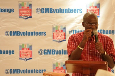 Governor of Lagos state, Babatunde Fashola, speaking at the event.