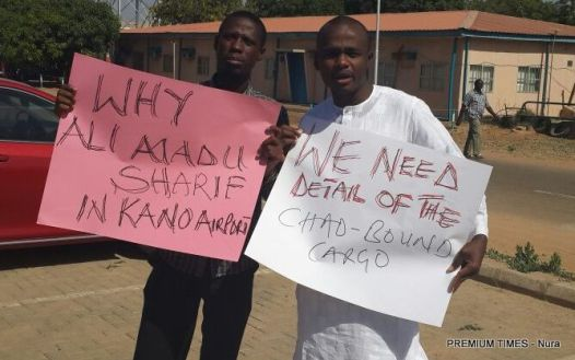 Protest in Kano Airport