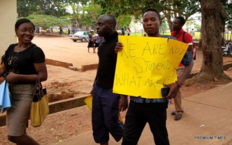 UNN Postgraduate Students Protesting Hike in Fees