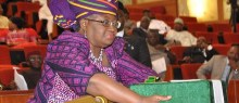 FILE PHOTO: Former Finance minister, Ngozi Okonjo-Iweala laying the budget before National Assembly Lawmakers