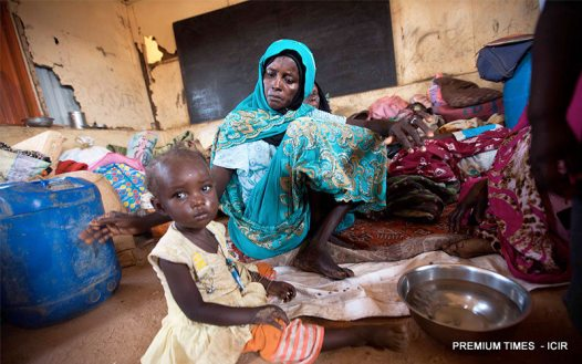 A woman and her child in an IPD camp in Gombe. Children, especially those without parents are targeted.