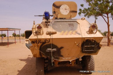 The Cobra APC recovered from BOko Haram terrorists