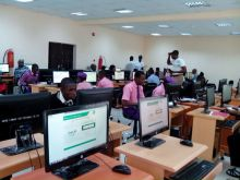 File photo of Students writing Joint Admission and Matriculation Board (JAMB) Mock Examination, at Mater Dei High School Imiringi in Ogbia Local Government Area of Bayelsa State on Saturday (29/4/17).