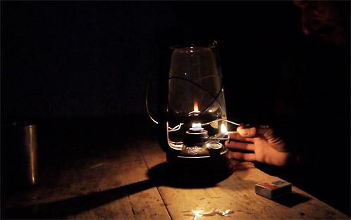 Darkness with lantern