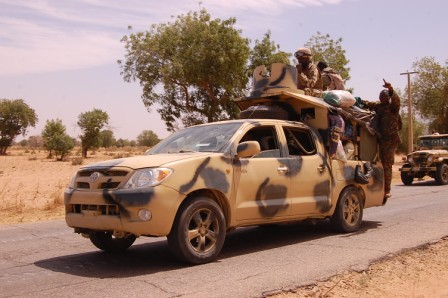 Scene of Nigerian Ground Troops that Recapture Baga