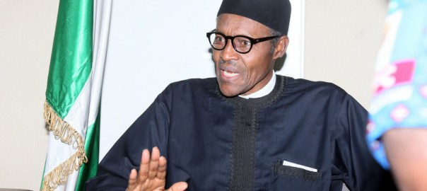 Muhammadu Buhari talking