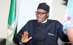 Muhammadu Buhari talking