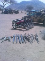 Captured-motorcycles-and-weapons-from-Boko-Haram-Terrorists-during-the-recapture-of-Gwoza-towns-and-environs