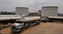 Tankers at NNPC depot