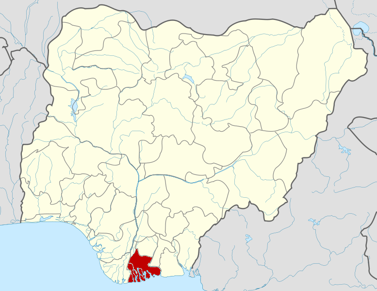Rivers state on map