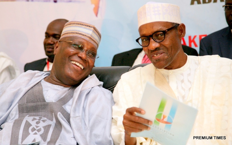 File photo of Former Vice President and chieftain of PDP, Atiku Abubakar and President Muhammadu Buhari