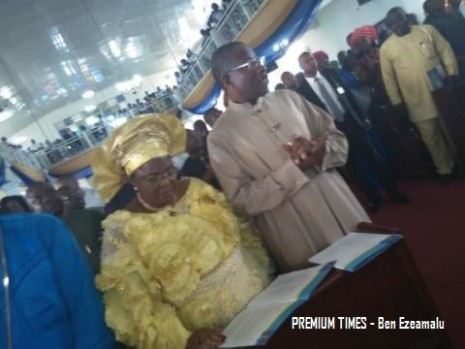 Mr. Jonathan and wife, Patience  at a Special Thanksgiving Service