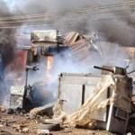 FILE PHOTO: Bomb explosion scene