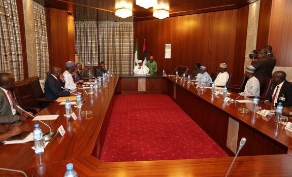 President Muhammadu Buhari on Day one at Presidential Villa
