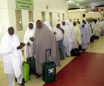 NIGERIAN PILGRIMS AT KING ABDUL AZEEZ INTERNATIONAL AIRPORT, JEDDAH IN SAUDI