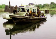 NIGERIAN NAVY SHIP ON OPERATION IN