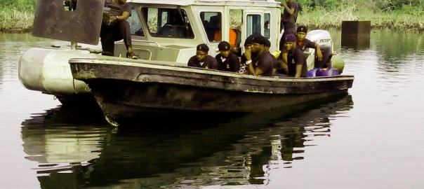 NIGERIAN NAVY SHIP ON OPERATION IN
