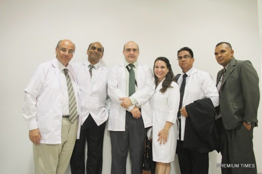 A team of foreign doctors at the Ibom Specialist Hospital,  Akwa Ibom State