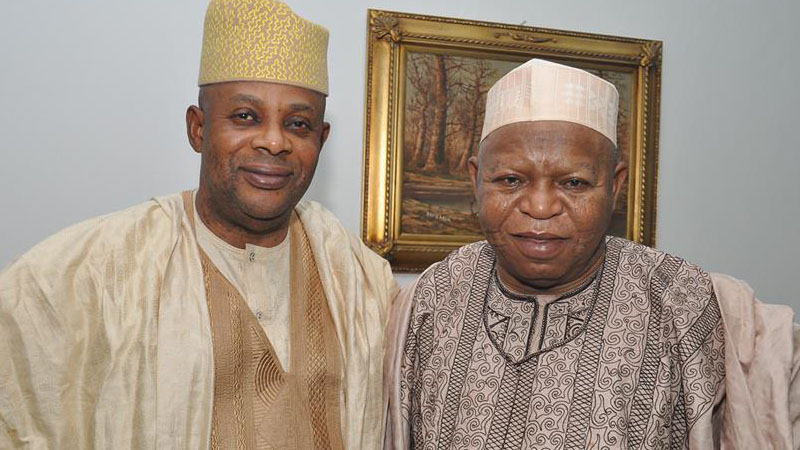 James Falake with Late Abubalar Audu