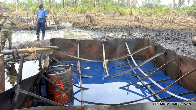 PIC.15.ILLEGAL REFINERY AT AKASSA AREA OF BRASS IN BAYELSA