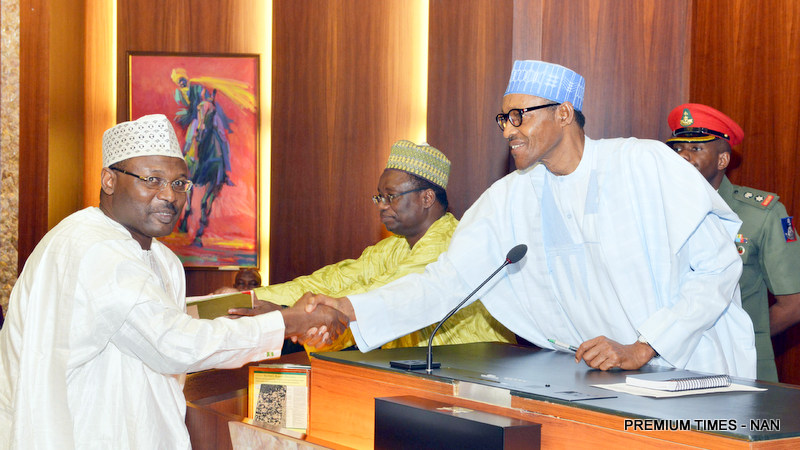 Image result for BuharI INEC Chairman