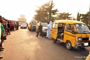 Gov. Ambode's convoy arrests traffic offenders