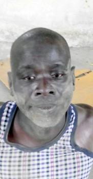 Boko Haram senior member, Alhaji Kerewu Abubakar at the IDP camp