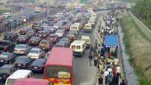 Traffic on Lekki axis [Photo: MyLekki.com]