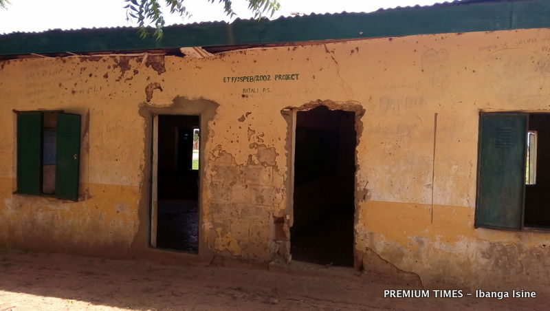 A dilapidated block at Government Primary School, Bali in Babura LGA