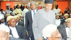 FILE PHOTO: Former NSA Sambo Dasuki and others arraigned over misappropriation at the FCT High Court in Abuja