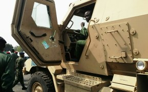 One of the armoured cars handed over to the Nigerian Army