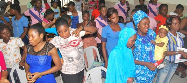 3. A cross section of excited teenage mothers, students and other girls from across 7 communities in Lagos and Ogun at CEE-HOPE's seminar on 'Guard Against Rape' in Lagos recently.