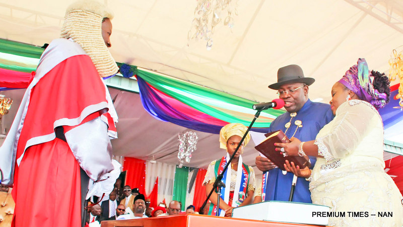Governor Seriake Dickson during his swearing-in ceremony