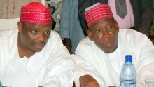 Rabiu Kwankwaso and Kano State Governor Abdullahi Ganduje  Photo: Newmail-ng