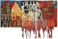 Omo nile by Gerald Chukwuma, burn wood panels, 60 x 98inches, 2015jpg