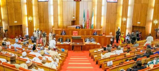 Chambers of the Nigerian Senate used to illustrate the story.