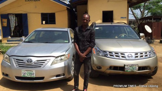 Chidebere Ngangbu arrested with stolen vehicles