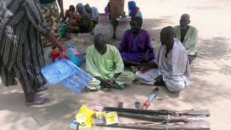 Dane Guns and Pistols recovered from the Captured Boko Haram insurgents